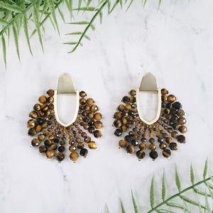Kendra Scott Diane Tiger's Eye Bead Earrings
